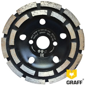 Double row diamond cup for concrete 125 mm