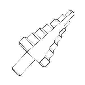 Step drill bits for metal