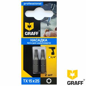 GRAFF screwdriver bit TX15x25 mm 2 pcs