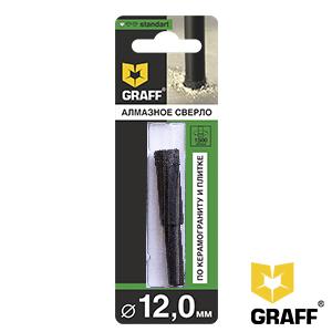 GRAFF Standard 12 mm diamond drill bit for ceramic granite and tile
