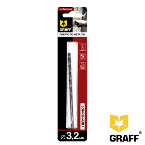 GRAFF drill bit for stainless steel 3.2 mm