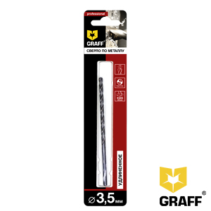 GRAFF drill bit for stainless steel 3.5 mm