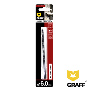 GRAFF drill bit for stainless steel 6 mm
