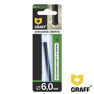 GRAFF Standard 6 mm diamond drill bit for ceramic granite and tile