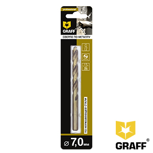 GRAFF drill bit for stainless steel 7 mm