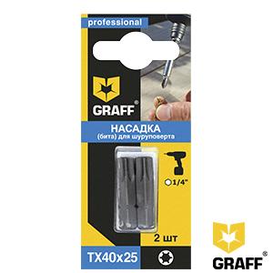 GRAFF screwdriver bit TX40x25 mm 2 pcs