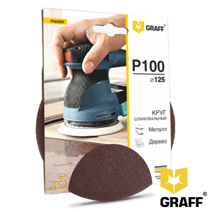 GRAFF abrasive grinding wheel P100 grit without holes