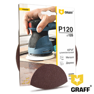 GRAFF abrasive grinding wheel P120 grit without holes