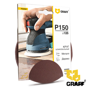 GRAFF abrasive grinding wheel P150 grit without holes