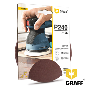 GRAFF abrasive grinding wheel P240 grit without holes