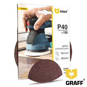 GRAFF abrasive grinding wheel P40 grit without holes