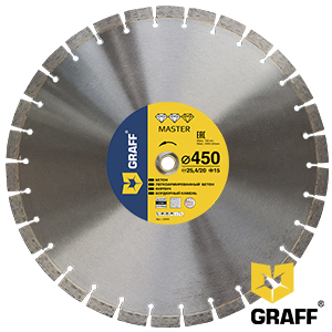 Master diamond cutting blade for concrete and stone 450 mm